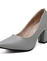 Damen-High Heels-Outddor-Kunstleder-Niedriger Absatz-Komfort-Schwarz / Grün / Grau