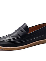 Autumn Winter Retro Style Men's Leather Flat Shoes in Casual Style for Office/Trip/Party or in Daily Life
