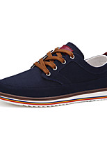 Men's Shoes Fabric Casual Sneakers Casual Sneaker Flat Heel Lace-up Blue / Gray