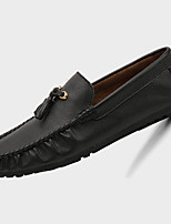 Heren Platte schoenen Lente / Zomer / Herfst / Winter Mocassin Microvezel Informeel Platte hak Overige Zwart / Blauw / Wit Wandelen
