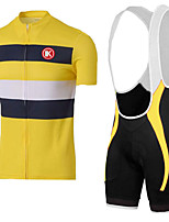 KEIYUEM®Summer Cycling Jersey Short Sleeves + BIB Shorts Ropa Ciclismo Cycling Clothing Suits #K132