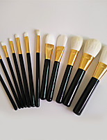 12 Makeup Brushes Set Goat Hair Professional / Full Coverage / Portable Wood Face / Eye / Lip