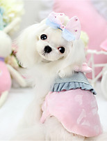Dog Dress Blue / Pink / Yellow Winter / Spring/Fall Solid Cosplay / Casual/Daily Dog Clothes / Dog Clothing-Other