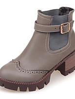 Women's Shoes Fashion Boots / Combat Boots / Round Toe Boots Office & Career / Dress / Casual Chunky Heel Buckle