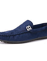 Men's Loafers & Slip-Ons Spring / Fall Round Toe / Flats PU Casual Flat Heel Others Blue / Yellow / Red Others
