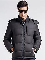 Lesmart Men's Stand Long Sleeve Jackets Black / Dark Gray-EW13578