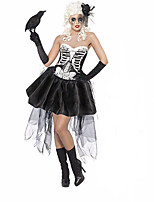 Cosplay Costumes Vampire Movie Cosplay Black Solid Dress / Headpiece / Gloves Halloween / Christmas / New Year Female Polyester