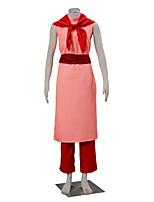 Inspiriert von Dragon Ball Chi Ch Anime Cosplay Kostüme Cosplay Kostüme einfarbig Rot / Rosa Ärmellos Cheongsam / Hosen / Korsett
