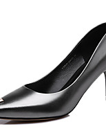Women's Shoes Patent Leather Spring/Summer/Fall/Winter Heels Heels Office & Career / Casual Stiletto Heel Black/Silver