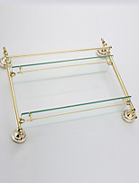 Bathroom Shelf / Gold / Wall Mounted /57*14*42cm /Stainless Steel / Zinc Alloy /Contemporary /57cm 14cm 3.5
