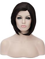 moda peluca corta europeo sythetic recta estilo bob natural de fiesta para las mujeres