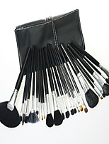24 Makeup Brushes Set Goat Hair Professional / Full Coverage / Portable Wood Face / Eye / Lip With Cosmetic Bag