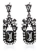 Earring Geometric Jewelry Women Fashion Wedding / Party / Daily / Casual / Sports Crystal / Alloy / Rhinestone 1 pair Black