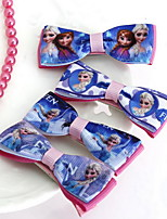 Women's Flower Girl's Fabric Frozen Bow Hair Clip
