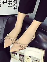 Women's Sandals Summer Sandals / Pointed Toe PU Casual Flat Heel Others Black / Almond Others