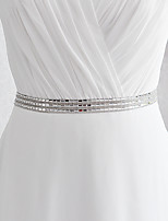 Satin Wedding / Party/ Evening / Dailywear Sash - Sequins / Beading Women's Sashes