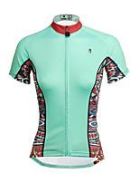 PALADIN Bicicleta/Ciclismo Tops Mujer Mangas cortasTranspirable / Resistente a los UV / Secado rápido / Compresión / Materiales Ligeros /