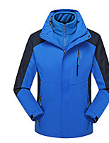 Outdoor Men's Softshell Jacket Fitness / Downhill Waterproof / Windproof Autumn / Winter Red / Blue-Sports