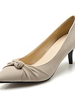 Damen-High Heels-Büro / Kleid / Lässig-Vlies-Stöckelabsatz-Absätze / Spitzschuh-Rot / Beige / Mandelfarben