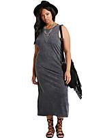 Women's Plus Size Cutout-Back Midi Dress