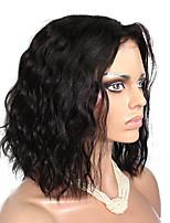 10-18 дюймов 10a класс естественная волна Бразильские волосы девственницы полные парики шнурка короткий боб человеческих волос