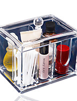 Clear Acrylic Cotton Swab Box Q-tip Storage Holder New Design Cosmetic Makeup Tool Women Storage Box With Lid