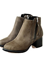 Women's Short Boot Heels / Fashion Boots / Pointed Toe BootsOffice & Career / Party & Evening / Dress /