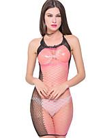 Damen Besonders sexy Nachtwäsche,Sexy / Druck Patchwork-Elasthan Dünn Rosa Damen