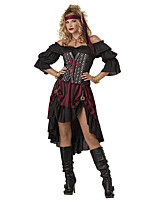 Cosplay Costumes Pirate Movie Cosplay Black Solid Dress / Headpiece / Armlet / More Accessories Halloween / Christmas / New Year Female