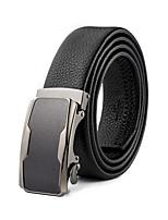 Mens Dress Belts Genuine Leather  Belt Automatic Buckle Cowhide Waist Belt,Vintage / Party / Work / Casual  All Seasons
