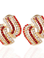 Alloy Ring Stud Earrings Wedding 1pc