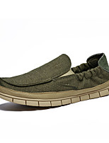 Men's Loafers & Slip-Ons Summer Round Toe Fabric Casual Flat Heel Others Blue / Green / Beige Others