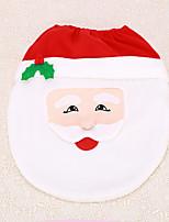 1pc Christmas Santa Claus Decoration Bathroom Toilet Cover Seat Indoor Home Supplies