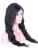Unprocessed Brazilian Virgin Hair Natural Black Color Natural Deep Wavy Full Lace Wigs With Baby Hair