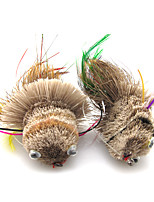 Anmuka Top Quality Dry Fly Lures 1PCS Fish Style Colorful Long Tail Deer Hair Feather Fishing Bait