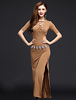 Belly Dance Dresses Women's Performance Modal Split Front 2 Pieces Black / Pink / Light Gray / Coffee  Natural