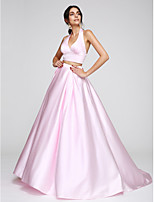 TS Couture® Formal Evening Dress A-line Halter Sweep / Brush Train Satin with