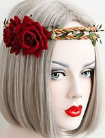 Halloween hermosa rosa coronas de flores diadema de boda de la señora de la joyería del pelo de días festivos