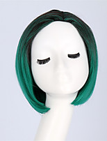 Black-Green Short Wig Women's Cute Fringe Straight Bob Cosplay Wig Heat Resistant Hair ombre synthetic wigs