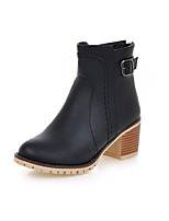 Women's Boots Spring / Fall / Winter Fashion Boots / Combat Boots Leatherette Outdoor / Casual Chunky Heel OthersBlack