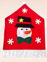1pc Snowflake Chair Hat Snowman Christmas Chair Cover Decoration Kitchen Decor