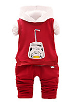 Boy's Casual/Daily Print Clothing Set,Cotton Fall Pink / Purple / Red
