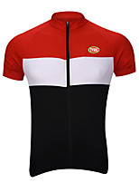 Sports Cycling Jersey Men's Short Sleeve BikeBreathable / Quick Dry / Front Zipper / Compression / Back Pocket / Reduces Chafing /