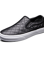 Vans Classics Slip On Men's Shoes High Canvas Outdoo Round Toe Leather Outdoor / Athletic / Casual Flat Heel
