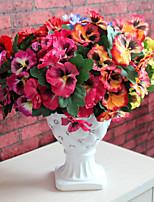 Hi-Q 1Pc Decorative Flower pansy Wedding Home Table Decoration Artificial Flowers