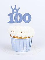 Geburtstag Party-Geschirr 10Stück / Set Kuchen Accessoires Hochwertiges Papier rustikales Theme Other Nicht-individualisiertGold / Silber