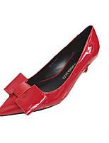 Черный / Красный / Серый / Темно-красный-Женский-На каждый день-Лакированная кожа-На шпильке-На каблуках-Обувь на каблуках