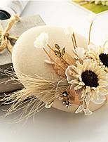 Dam Lin / Tyg Headpiece-Bröllop / Speciellt Tillfälle Fascinators 1 st. Klar Rund 24cm