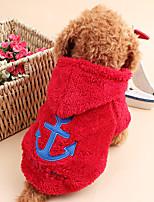 Gatos / Cães Casacos Vermelho / Branco / Azul / Cinzento / Rosa Inverno / Primavera/Outono Náutico Férias