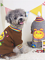 Dog Sweater Brown / Gray Winter / Spring/Fall Solid / Animal Casual/Daily Dog Clothes / Dog Clothing-Other